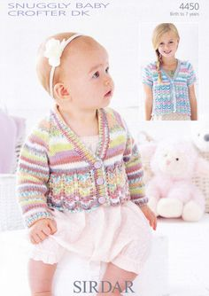 Sirdar - 4450 - Cardigans (birth - age 7) - $5.95 I'm sure I can use thta stitch on one of the cardi patterns I have, :)