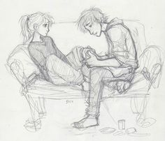pretty sure this is Astrid and Hiccup