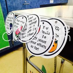 This sweet girl is keeping her motivational fruit tags even though state testing is finished  UPDATE: I just uploaded these Testing Motivational Fruit Tags to my TpT store as a FREEBIE! If you haven't finished your state (or even district) testing yet go grab these tags for your students!  You could even use them with fruit snacks too! [link in profile] #wecanallusealittlemotivationeveryday #iteachthird