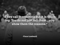 Coaching-goes for baseball too! Work Motivation, Motivation Inspiration, Inspirational Football Quotes, Motivational, Football Coach Wife, Vince Lombardi Quotes, Affirmations, Encouragement, Basketball Quotes