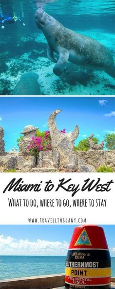 Fancy a road trip from Miami to Key West? Read these juicy tips on what to do what to eat and where to stay to enjoy this 150 mile drive at its fullest. - Travel Miami - Ideas of Travel in Miami Key West Florida, Key West Miami, Miami To Key Largo, Oh The Places You'll Go, Places To Travel, Places To Visit, Florida Travel, Travel Usa, Travel Deals