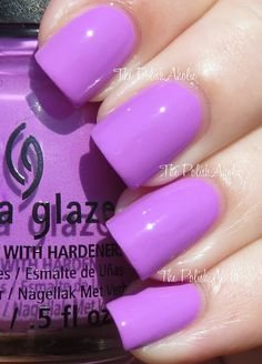 China Glaze - That's Shore Bright (Summer 2013 Sunsational Collection Swatches) :: a purple creme. Out of the creme half of the collection, this was the only one w/ a good formula. 2 coats. | ThePolishAholic
