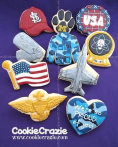 US Navy Pilot Cookie Collection  www.cookiecrazie.com
