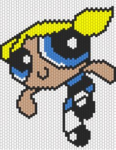 Bubbles From The Powerpuff Girls Bead Pattern