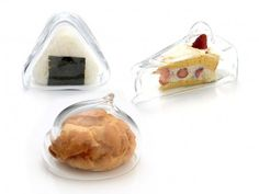 Transparent Japanese Glass Food Covers.