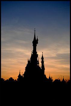 Cinderella Castle Silhouette by sgreen757 via Flickr