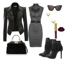 """""""Untitled #20"""" by treasures-ive-found on Polyvore featuring Dsquared2, Christian Dior, H&M, Leslie Danzis and Fendi"""