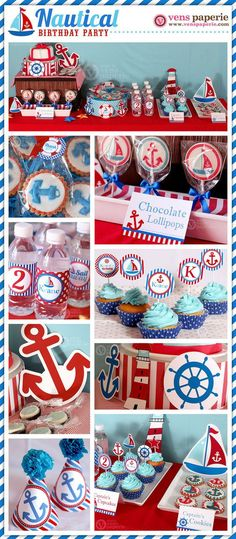 Nautical Birthday Party Package Personalized FULL by venspaperie: