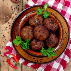 Fried meatballs - juicy, delicious and aromatic (Text in Bulgarian with translator) Bulgarian Desserts, Bulgarian Recipes, Bulgaria Food, Beef Recipes, Cooking Recipes, Eastern European Recipes, Gourmet Desserts, Pork Dishes, Perfect Food