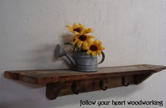 ideas for one big old piece of barnwood | follow your heart woodworking: Barn Board Shelf #1