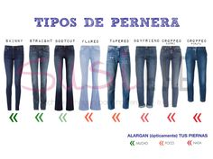 Different kind of jeans.