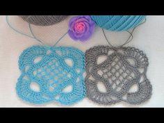 ♥ Королевский квадрат • Квадратный мотив крючком • МК и Схема вязания • Crochet kings square - YouTube