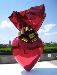 jeff koons heart GLASS SCULPTURE<3<3<3