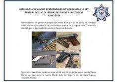 Confisca policía estatal 162 armas de fuego en la primera mitad del 2016