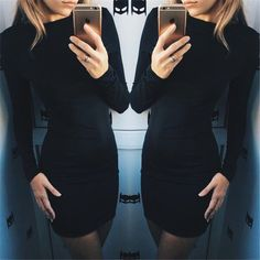 2016 Autumn Dress Women Solid Color Package Hip Dress Ukraine Casual Long-sleeved Plus size Club Party Dresses