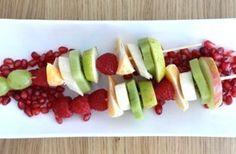 Summer fruit kebabs