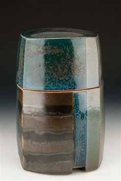 David Crane's Salt Glaze stoneware box 6x6x8.5 Ceramic Pottery, Ceramic Art, David Crane, Clay Box, Ceramic Boxes, Blanket Box, Covered Boxes, Stoneware, Glaze