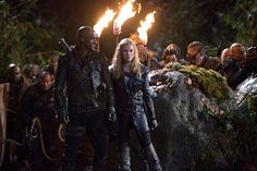 """THE 100 CW 2E15 """"Blood Must Have Blood, Part One"""" - Eliza Taylor, Ricky Whittle - Clarke Griffin, Lincoln #The100"""