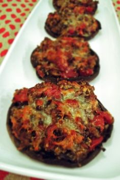 Stuffed Portabella Mushrooms (using gluten free bread crumbs)