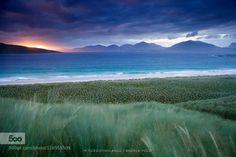 Distant lands by AndreaPozzi  Luskentyre andrea pozzi beach clouds coast dreamerlandscape europe forgottenlands isle of harris lan