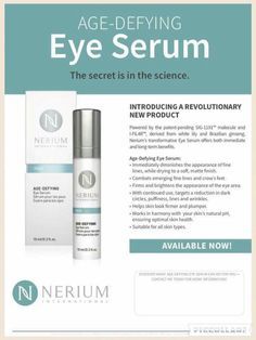 Nerium eye serum www.hrichardson.nerium.com