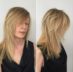 Long Layered Haircut for Blond Hair Modern Shag Haircut, Long Shag Haircut, Shaggy Haircuts, Girl Haircuts, Messy Bob Hairstyles, Haircuts For Fine Hair, Everyday Hairstyles, Medium Hair Styles, Curly Hair Styles