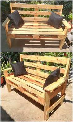 Use Pallet Wood Projects to Create Unique Home Decor Items Pallet Lounge, Diy Pallet Sofa, Diy Pallet Projects, Pallet Furniture, Rustic Furniture, Wood Projects, Woodworking Projects, Pallet Ideas, Pallet Walls