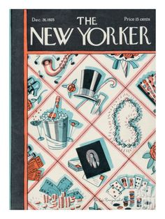 The New Yorker Cover - December 26, 1925 by Stanley R. Reynolds. Premium Giclee Print from Art.com, $157.00