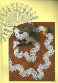 Diy Crafts - View album on Yandex. Col Crochet, Crochet Borders, Crochet Diagram, Filet Crochet, Irish Crochet, Crochet Motif, Crochet Doilies, Crochet Flowers, Crochet Stitches