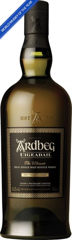 "Ardbeg Uigeadail Islay Single Malt Scotch Whisky   Named after the distillery's unique water source, Ardbeg Uigeadail was named ""World Whi..."