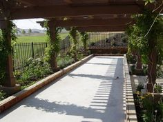 Image detail for -Bocce Courts...this would be perfect with grape vines...next house