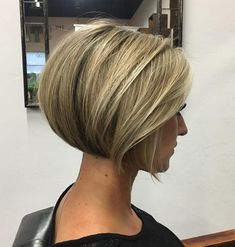 Dark Blonde Rounded Jaw-Length Bob