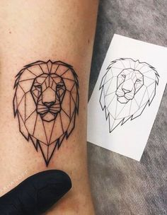 Lion tattoos hold different meanings. Lions are known to be proud and courageous creatures. So if you feel that you carry those same qualities in you, a lion tattoo would be an excellent match #lion #liontattoo