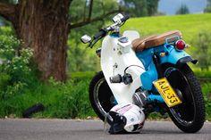 Photograph Hot Rod Honda by Julian Zapata on Honda Cub, C90 Honda, Moto Quad, Soichiro Honda, Custom Cafe Racer, Mini Bike, Motorcycle Bike, Vintage Motorcycles, Cycling Bikes