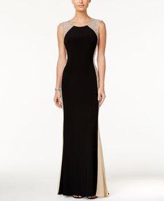 Xscape Rhinestone Illusion Gown