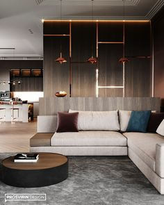 Elegant Modern interior design on Behance Living Room Partition Design, Room Partition Designs, Dining Room Design, Living Room Update, Living Room Modern, Modern Interior Design, Interior Architecture, Dream Home Design, House Design