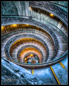 Spiral Stairs of the Vatican, province of Rome Lazio