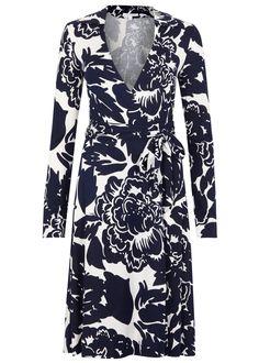Diane von Furstenberg navyandoff whitecady dress Floral print, waist tie-fastening front Slips on 100% silk