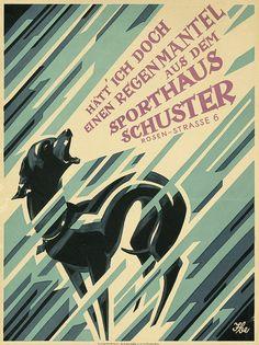 Hätt' ich doch einen Regenmantel aus dem Sporthaus Schuster (1928)  |  Had I but a raincoat from the Sport Schuster (1928)