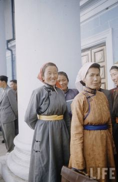 Mongolian women in traditional clothing ~ 90's