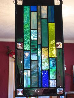 Ocean transom stained glass suncatcher  Sea by stanfordglassshop, $70.00