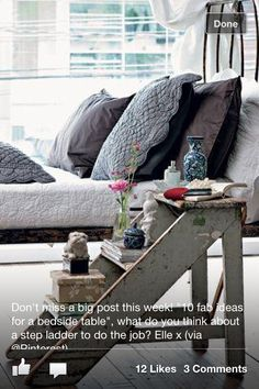 Loving this idea as bed side tables