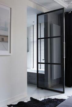 Ladbroke Grove London Auberry Steel Doors Partition Doors - Industrial bathroom doors