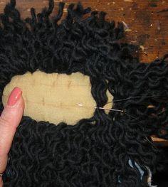 charmingsbycmh: Prim Raggedy Ann Hair Tutorial Cabelo boneca