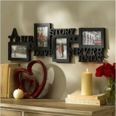 Frame Picture Photo Collage 4 Wall Quoted Opening Frames Black Home Hanging  #StoryPhotoFrame