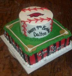 Razorback baseball cake