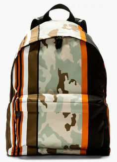 Givenchy Mint and Orange Camo Backpack