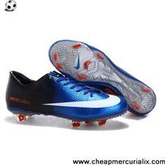 online store 5fe05 d65cf Buy Latest Listing Blue White Black Nike Mercurial Vapor IX FG Football  Shoes For SaleFootball Boots For Sale