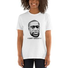 I Can't Breathe George Floyd 2020  T- Shirt - 1 Dollar of Sales Donated to Charity or Family of George Floyd Donate To Charity, I Cant, Breathe, Size Chart, Unisex, Canning, Cotton, Mens Tops, T Shirt