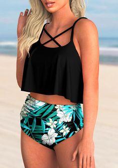 Tropical Print High Waisted Bikini Set bikini swimsuits triangl, swimsuits modest bikini, bikini summer #bikinilover #bikinitop #bikinibottom, dried orange slices, yule decorations, scandinavian christmas Floral Swimsuit Bikinis, Modest Bikini, Bikini Bod, Modest Swimsuits, Bikini Ready, Summer Bikinis, Women Swimsuits, Bikini Swimwear, Bikini Inspiration